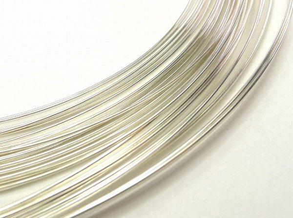 画像1: アルゲンティウム935シルバー丸線(ラウンドワイヤー)【カット販売】 (1)