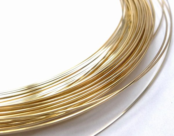 画像1: 14K ゴールドフィルド・ワイヤー(goldfilled wire)長尺販売 〔お取り寄せ〕 (1)